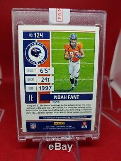 07/25 NOAH FANT 2019 Contenders Playoff Ticket Autograph Auto Rookie Broncos RC