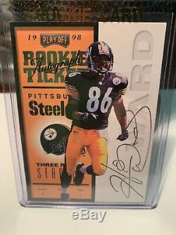 1998 Playoff Contenders Hines Ward Rookie Ticket Auto Steelers-georgia