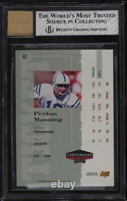 1998 Playoff Contenders Peyton Manning ROOKIE RC AUTO #87 BGS 7.5 NRMT+
