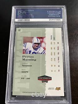 1998 Playoff Contenders Peyton Manning Rookie Ticket Red PSA 8