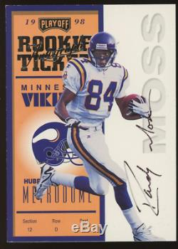 1998 Playoff Contenders Rookie Ticket Randy Moss ROOKIE RC AUTO #92