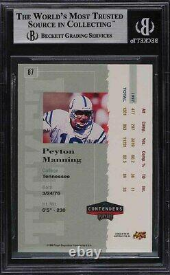 1998 Playoff Contenders Ticket Red Peyton Manning ROOKIE RC #87 BGS 9