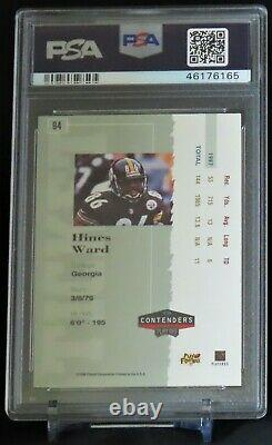 1998 Playoff Contenders Ticket Rookie Card Autograph #94 Hines Ward