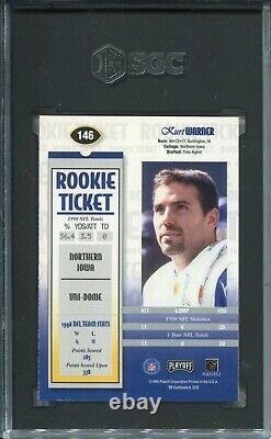 1999 Playoff Contenders SSD #146 Kurt Warner Rookie Card Graded SGC 9 Auto 10