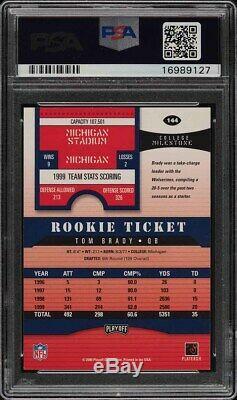 2000 Playoff Contenders Autograph Tom Brady #144 PSA 9 PSA/DNA ROOKIE RC MINT