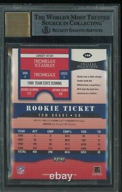 2000 Playoff Contenders Rookie Ticket #144 Tom Brady RC BGS 8.5 with 9 AUTO