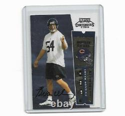 2000 Playoff Contenders Rookie Ticket Brian Urlacher Auto RC Rookie Card #103