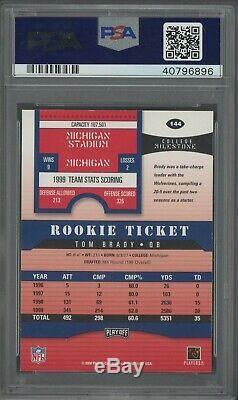 2000 Playoff Contenders Rookie Ticket Tom Brady Patriots RC PSA/DNA 9 AUTO RARE