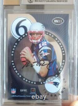 2000 Playoff Contenders Round Numbers BGS 9 MINT 9 Auto Tom Brady Rookie RC