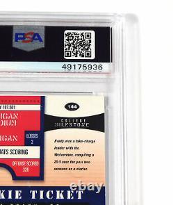 2000 Playoff Contenders Tom Brady On Card Auto Rookie #144 PSA 7