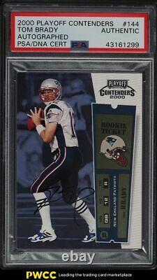 2000 Playoff Contenders Tom Brady ROOKIE RC PSA/DNA AUTO #144 PSA Auth