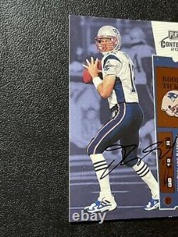 2000 Playoff Contenders Tom Brady Rookie Ticket Auto
