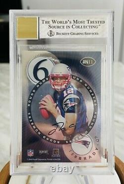 2000 Tom Brady Playoff Contenders Round Numbers Rookie Card BGS NM+ Auto 10