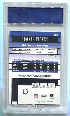 2001 Playoff Contenders #166 Reggie Wayne Rookie Ticket Auto Psa 10 F31852256