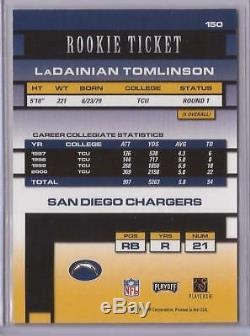 2001 Playoff Contenders LaDainian Tomlinson Autograph Rookie Ticket RC #150