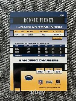 2001 Playoff Contenders LaDainian Tomlinson Rookie Ticket Autograph