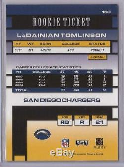 2001 Playoff Contenders LaDainian Tomlinson Rookie Ticket RC Autograph Auto #150