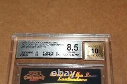 2001 Reggie Wayne Playoff Contenders 39/50 BGS 8.5 Auto 10 Rookie of the year