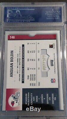2003 Playoff Contenders Anquan Boldin RC/AU/524, PSA 10 GEM MINT