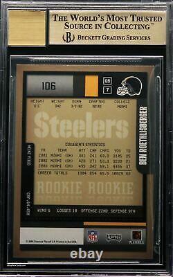 2004 Ben Roethlisberger Playoff Contenders RC Rookie Auto /541 BGS 9.5 Pop 28