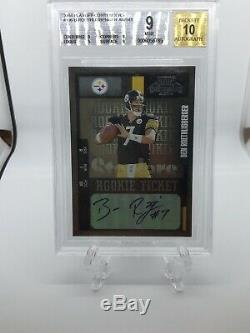 2004 Ben Roethlisberger RC Playoff Contenders Rookie Auto /541