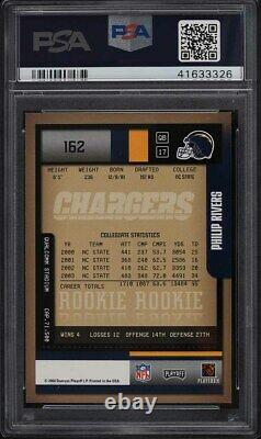 2004 Playoff Contenders Philip Rivers ROOKIE RC AUTO #162 PSA 9 MINT