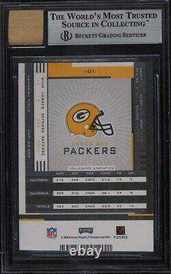 2005 Playoff Contenders Aaron Rodgers ROOKIE RC AUTO #101 BGS 9 MINT