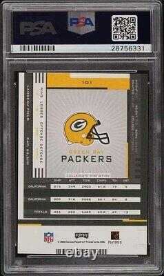 2005 Playoff Contenders Aaron Rodgers ROOKIE RC AUTO #101 PSA 9 MINT