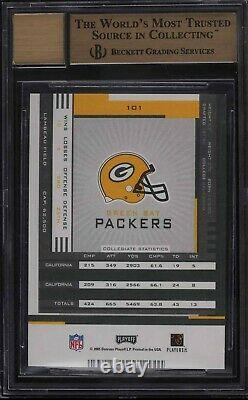 2005 Playoff Contenders Aaron Rodgers Rc Auto #101 /530 Bgs 9.5/10 Rare