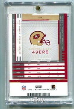 2005 Playoff Contenders Frank Gore RC Ticket Auto #139 49ERS (CBF)