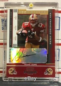 2005 Playoff Contenders Frank Gore Rookie Ticket, #139, Autographed, Free Ship