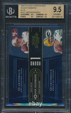 2005 Playoff Contenders Round Blue Aaron Rodgers Rookie Card Graded BGS All 9.5