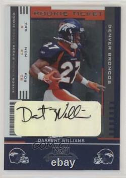 2005 Playoff Contenders Ticket Darrent Williams #184 Rookie Auto
