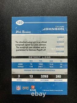 2007 Contenders Rookie Ticket Calvin Johnson Autograph /525 Detroit Lions