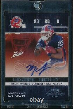 2007 Playoff Contenders Marshawn Lynch Rookie Ticket Auto Autograph /533 Rc #194