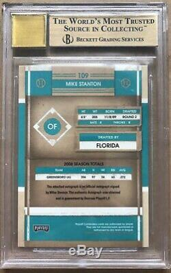 2008 Giancarlo Michael Stanton Playoff Contenders Bgs 9.5/10 Rc Auto /149