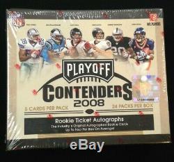 2008 Playoff Contenders Football Sealed Hobby Box-M Ryan Flacco, Stewart Auto RC