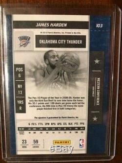 2009 10 James Harden Panini Playoff Contenders Rookie Ticket Auto Rc Rockets Mvp