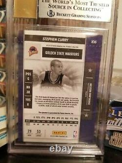 2009-10 PLAYOFF CONTENDERS STEPHEN CURRY #106 ROOKIE AUTO BGS MINT 9 with3-9.5s