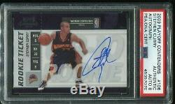 2009-10 Playoff Contenders Rookie Ticket Stephen Curry #106 RC Auth PSA 8 Auto