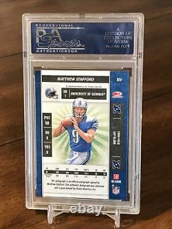2009 Playoff Contenders Rookie Ticket Matthew Stafford RC AUTO Lions PSA 10
