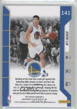 2010-11 Playoff Contenders Patches Ticket Jeremy Lin #141 Rookie Auto