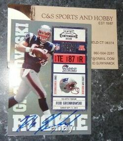 2010 Playoff Contenders Rob Gronkowski Auto Rookie BLUE JERSEY