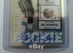 2010 Playoff Contenders Rob Gronkowski Auto Rookie Ticket #229 White Jersey /499