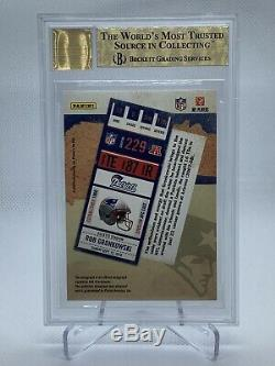 2010 Playoff Contenders Rob Gronkowski Rookie Ticket Auto /499 BGS 9.5