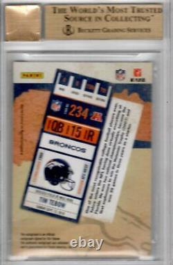 2010 Playoff Contenders Tim Tebow Rookie RC Ticket Auto #234 BGS 9.5/10 RARE