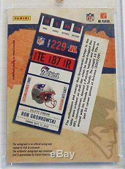 2010 Rob Gronkowski Playoff Contenders RC Rookie Ticket Auto Autograph /499
