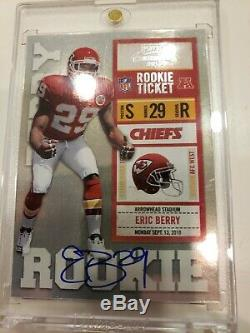 2010 playoff contenders Eric Berry SSP 97 Auto BGS 9.5 Rookie Ticket