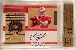 2011 Colin Kaepernick Playoff Contenders No Logo /250 Rookie Rc Bgs 9.5 Auto 10