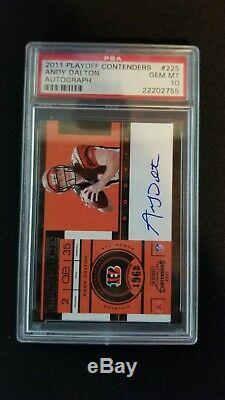 2011 Panini Contenders playoff Contenders Andy Dalton Rookie Auto RC PSA 10